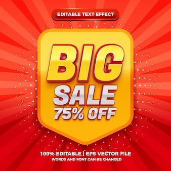 Effet de texte modifiable en 3d moderne de grande vente