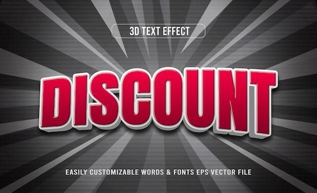 Effet de texte modifiable en 3d avec remise du vendredi noir