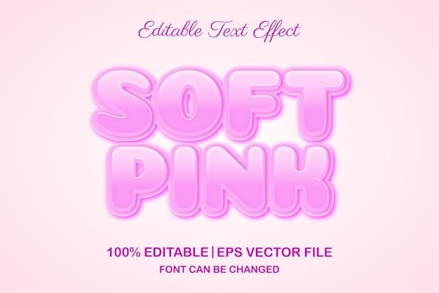 Effet de texte modifiable 3d rose doux
