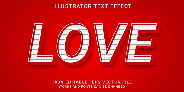 Effet de texte modifiable en 3d - style d'amour