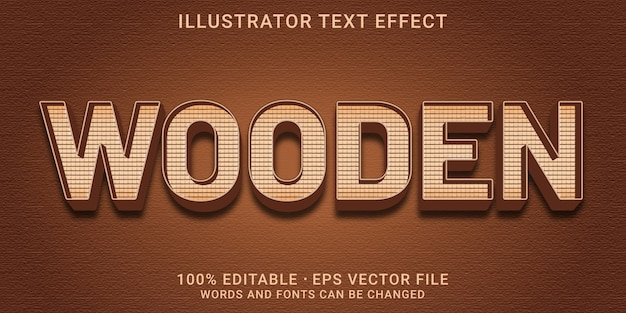 Effet de texte modifiable 3d - style bois