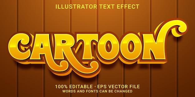 Effet de texte modifiable en 3d - style cartoon