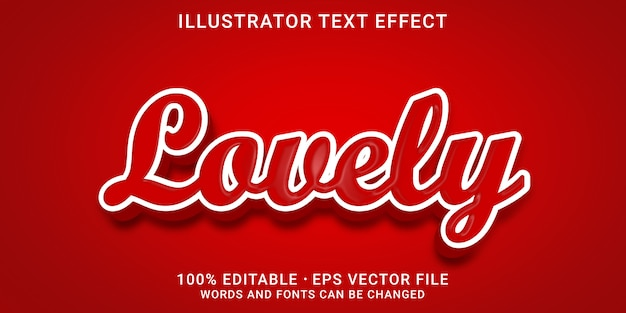 Effet de texte modifiable en 3d - style charmant