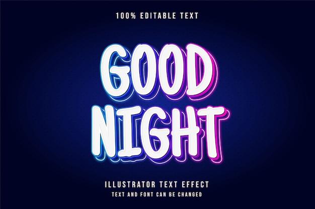 Effet de texte modifiable 3d style néon en relief rose bleu