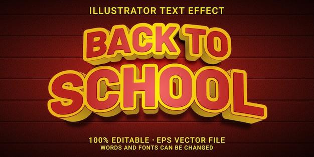 Effet de texte modifiable en 3d - style de retour à l'école