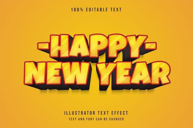 Effet de texte modifiable 3d style de texte de bande dessinée orange dégradé jaune