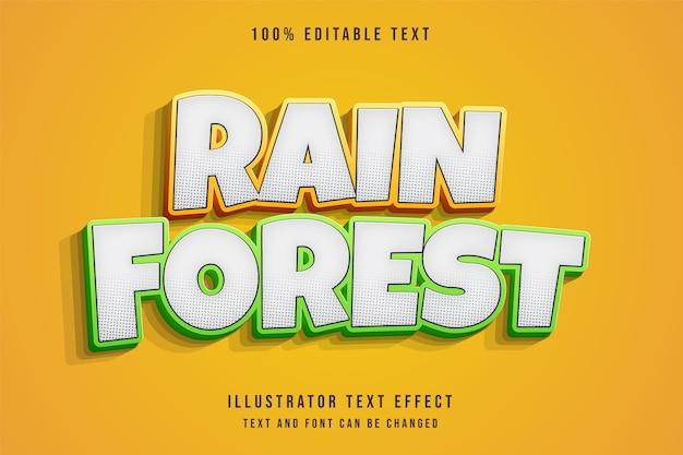 Effet de texte modifiable 3d style de texte comique vert dégradé jaune