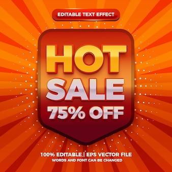 Effet de texte modifiable en 3d de vente chaude moderne