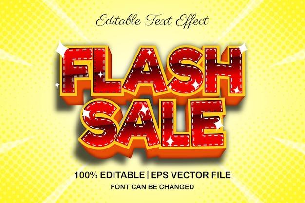 Effet de texte modifiable en 3d de vente flash