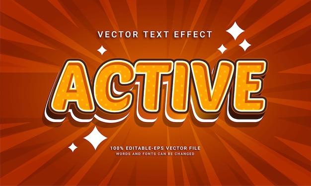 Effet de texte modifiable actif