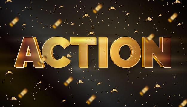 Effet de texte modifiable action dorée