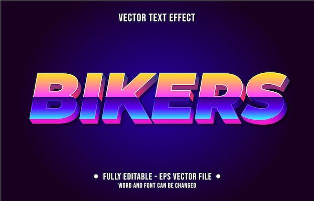 Effet de texte modifiable affiche de style rétro vintage vieux film