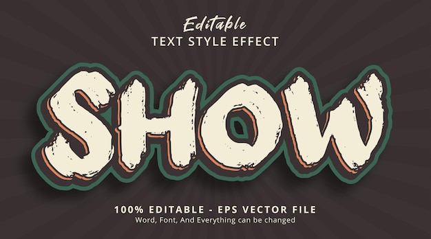 Effet de texte modifiable, afficher le texte sur l'effet de style de couleur d'affiche vintage