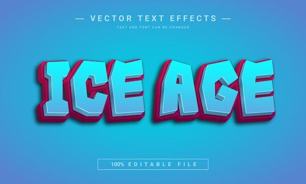 Effet de texte modifiable de l'âge de glace