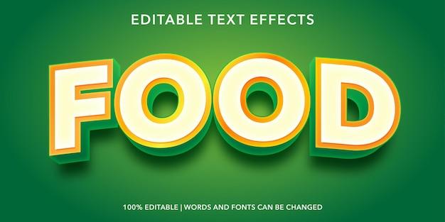 Effet de texte modifiable alimentaire