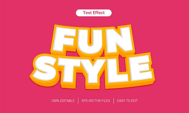 Effet de texte modifiable amusant de style pop 3d