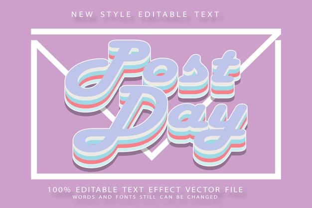 Effet de texte modifiable après le jour en relief de style moderne