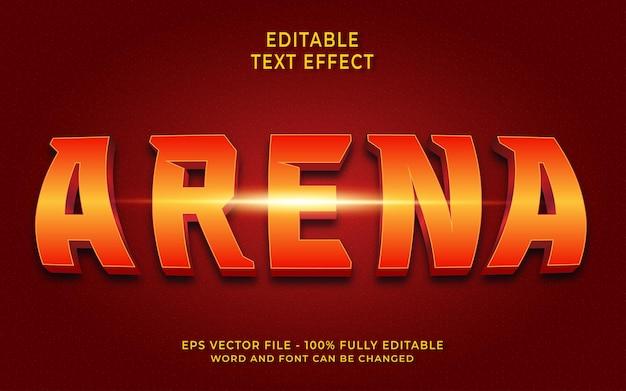 Effet de texte modifiable arena