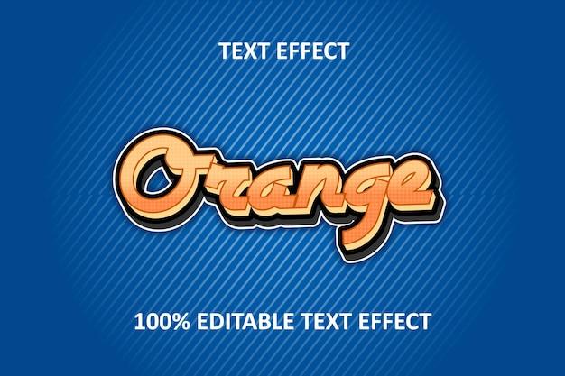 Effet De Texte Modifiable Argent Orange Bleu Vecteur Premium