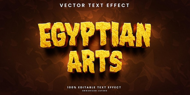 Effet de texte modifiable des arts égyptiens