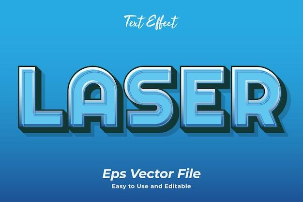 Effet de texte modifiable au laser