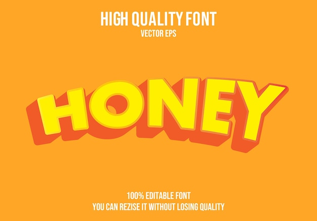 Effet de texte modifiable au miel