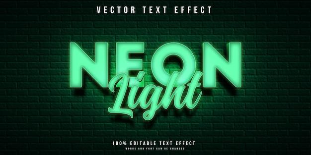 Effet de texte modifiable au néon
