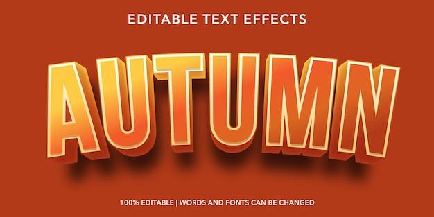 Effet de texte modifiable d'automne
