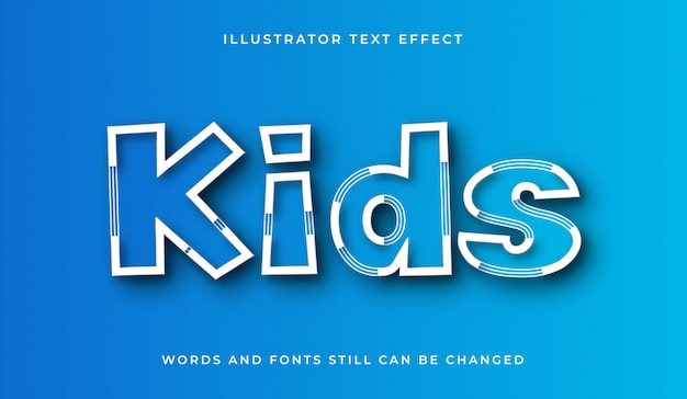 Effet de texte modifiable de bande dessinée et de dessin animé