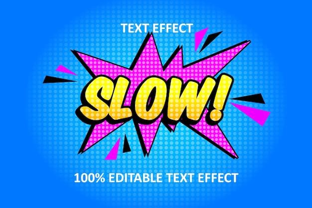 Effet de texte modifiable bande dessinée rose jaune