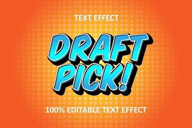 Effet de texte modifiable bd orange bleu