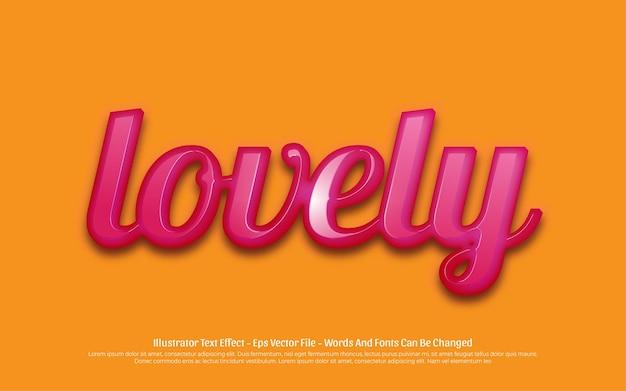 Effet de texte modifiable, belles illustrations de style