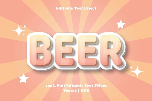 Effet de texte modifiable de bière