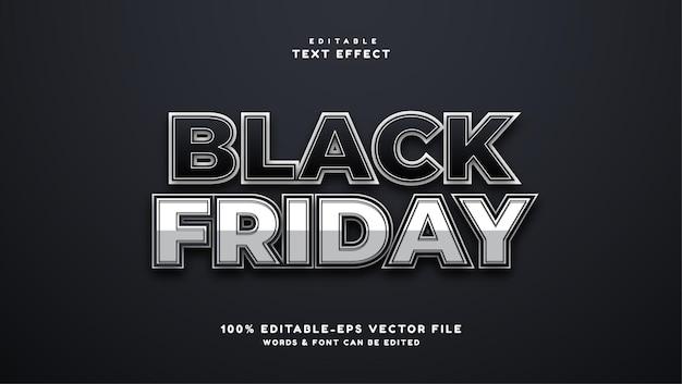 Effet de texte modifiable black friday 3d shadow text effect