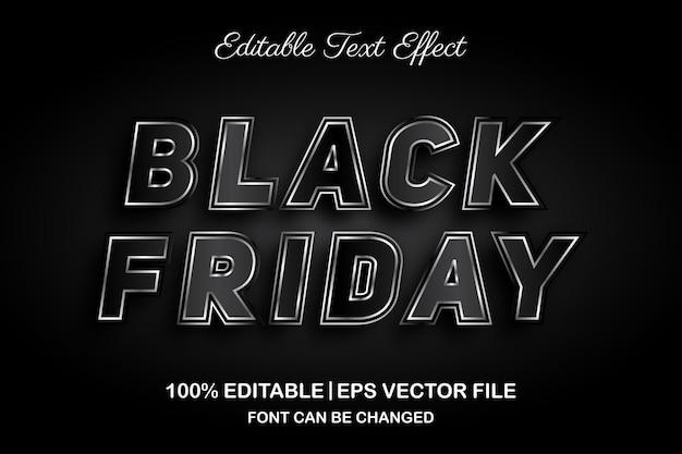 Effet de texte modifiable black friday 3d