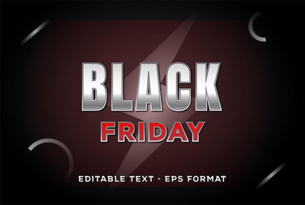 Effet texte modifiable black friday discount vente promo background design vector