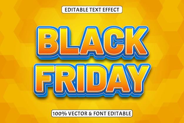 Effet de texte modifiable black friday style 3 dimensions