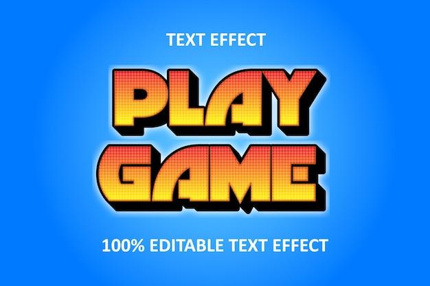 Effet de texte modifiable bleu jaune été