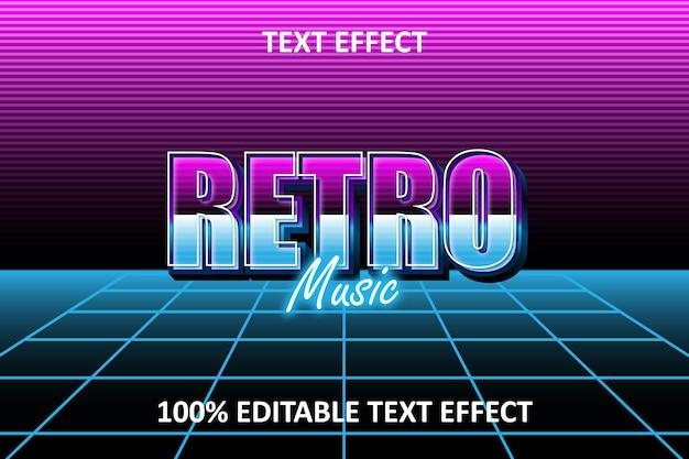 Effet de texte modifiable bleu rose retro