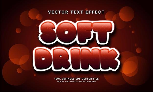 Effet de texte modifiable de boisson gazeuse avec thème de menu de boisson sucrée