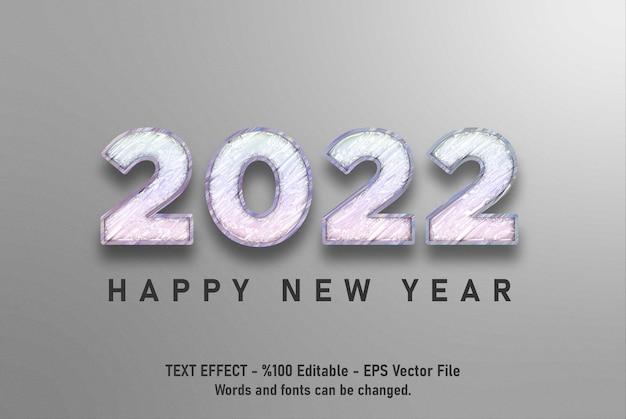 Effet de texte modifiable de bonne année 2022