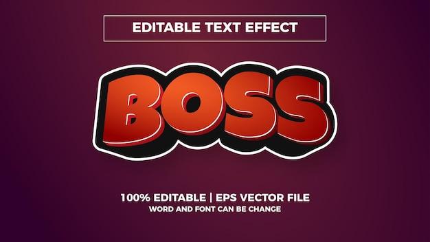 Effet de texte modifiable boss