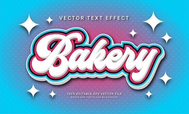 Effet de texte modifiable de boulangerie avec le thème du magasin d'alimentation