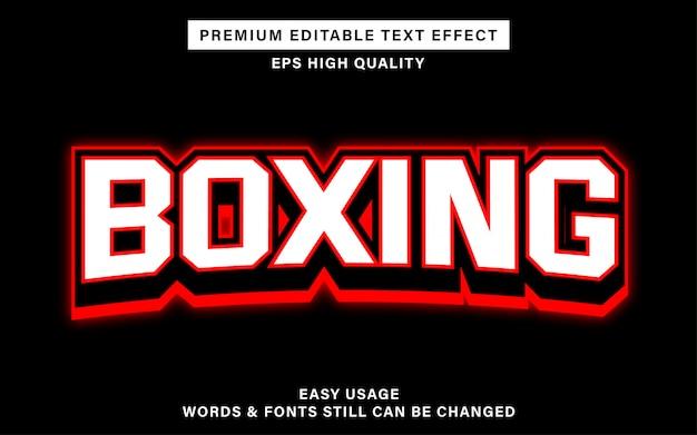 Effet de texte modifiable de boxe