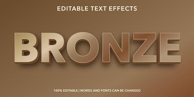 Effet de texte modifiable en bronze