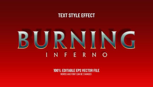 Effet de texte modifiable brûlant le style de jeu inferno