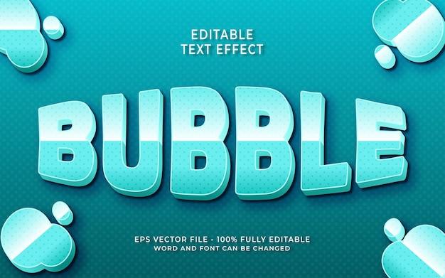 Effet de texte modifiable de bulle