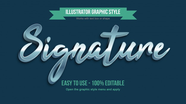 Effet de texte modifiable de calligraphie 3d argent brillant