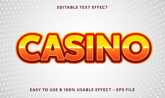 Effet de texte modifiable de casino