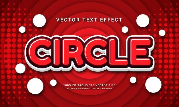 Effet de texte modifiable en cercle avec thème de couleur dégradé rouge